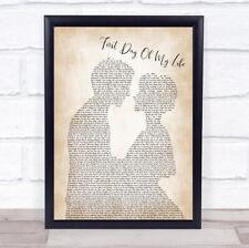 First Day Of My Life Song Lyric Man Lady Bride Groom Wedding Print