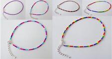 Colourful Festival Friendship Bracelet Seed Bead Gay Bi Pride LGBT Rainbow