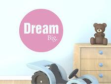 Dream big quote wall sticker | Motivational wall decal | Dream wall sticker