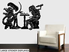 ALIENS VS. PREDATOR-MURO VINILE ADESIVI MOVIE SCACCHI MATCH Trasferimento Murale Decalcomania