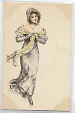 VIENNE Style Donnina Elegante Cappello PC Circa 1900 FRANCE