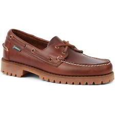 Sebago Portland Mens Brown Leather Lace Up Boat Deck Shoes Size 8-12
