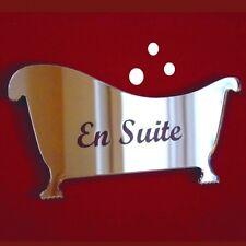 BAGNO, En Suite INCISI DOOR sign (specchio in acrilico, diverse dimensioni disponibili)