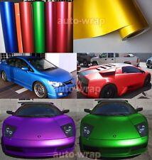 Best Wrap Hot Auto Car Satin Matte Metallic Chrome Vinyl Sticker Sheet Film WW