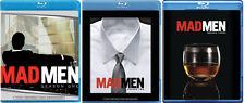 Mad Men Complete Blu-Ray Disc TV Seasons 1, 2, 3 Series Drama Brand New