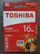 Carte Mémoire TOSHIBA HD 16 Go Micro SDHC UHS-I : Ecriture 30Mo/s Lecture 48Mo/s
