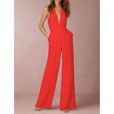 Tuta Pantaloni Casual Cerimonia 3 Colori Donna Woman Jampsuit Romper 660015 P