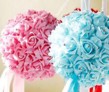 "6"" Foam Rose Pomander Flower Kissing Ball Wedding Party Decoration + Rhinestone"