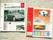 VW BUG/BEETLE Brochure/Spec Sheet Collection:Volkswagen
