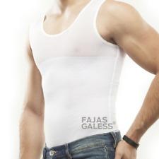 Men T-Shirt Shapewear Girdle Undershirt for Back Support & Abdomen Compression