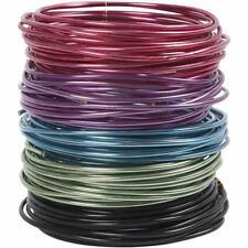 Alambre Plano Aluminio Bonzai En Relieve Metal Craft L:2 M W:15 mm Elige Colores