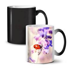 Lady Bug Flower NEW Colour Changing Tea Coffee Mug 11 oz | Wellcoda