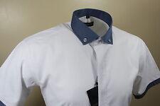 Dominic Stefano Design Italiano da Uomo Manica Corta Camicia RRP £ 24.99 ora * £ 14.95 *