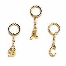 Keyring Letter - Gold - Choose letter - Initial Alphabet Key Ring - UK Supplier