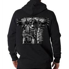 Native American Indian Warrior Skull Hooded Sweatshirt Hoodie