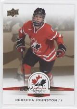 2014 Upper Deck Team Canada Juniors Gold Sepia #75 Rebecca Johnston Hockey Card