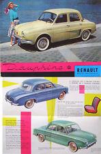 Renault Dauphine 1957-58 Original UK Foldout Brochure