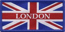 London Union Jack UK British Flag Woven Badge Patch 9.8 x 4.9cm UK Manufactured