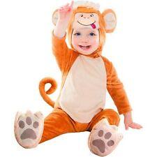 Monkey Infant Halloween Costume Size 0-6 6-12 12-18 months Bodysuit Dress Up NEW