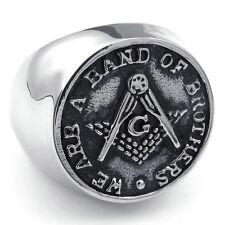 Masonic rings ebay - Freemasons We are a band of brothers Freemasonry Coin Style