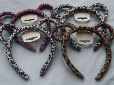Cheetah animal print ears hair alice band fabric 1.3cm headband kids party hen