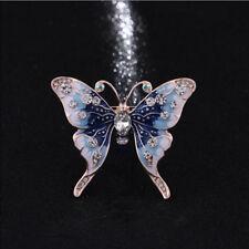 Enamel Crystal Butterfly Dragonfly Animal Brooch Pin Womens Costume Jewellery CB