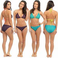 Ladies Crochet Bikini Swimwear Set Beach Holidays Size 8 -18 Halterneck Designer