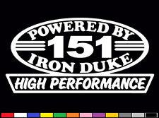 2 HIGH PERFORMANCE 151 CI DECALS HP INLINE 4 IRON DUKE 2.5 ENGINE EMBLEM STICKER