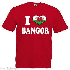 I Love Heart Bangor Wales Children's Kids T Shirt