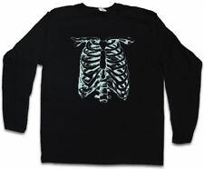 SKELETON II LONG SLEEVE T-SHIRT Bones Knochen Skelett Halloween Skull Fear The
