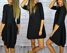 Vestito Corto Donna Nero Asimmetrico - Black Woman Mini Dress Asymmetric 110085