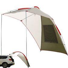 Waterproof Teardrop Trailer Awning Portable Car SUV Sun Shelter Camping Canopy