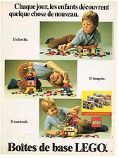 PUBLICITE ADVERTISING   1982    LEGO jeux éducatifs jouets boites de base