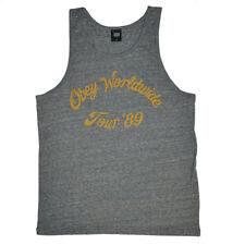 2a21b775ff5e1e Obey Tour 89 Grey Men s Singlet Tank Top