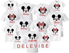 Mickey & Minnie MOM DAD FAMILY VACATION BIRTHDAY Matching cute T-Shirts