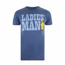 """The Simpsons """"LADIES MAN"""" Official Mens TShirt  - S,M,L,XL,XXL TEE"""