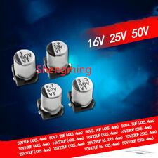 100 Pcs 4.7uF 50V Aluminum Electrolytic Capacitors 4x5mm T8S8