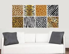 Animal Print Design Pared Arte Vinilo Calcomanía Pegatinas africano Tigre León Cebra