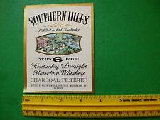 LIQUOR LABEL: Southern Hills  Kentucky Bourbon Whiskey - Reliance Wine & Spirits