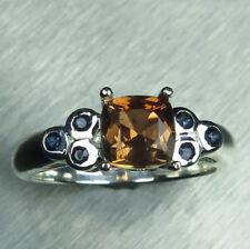1.1ct Natural Bi-colour Andalusite 925 silver 9ct 14k 18k Gold Platinum ring