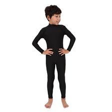 Tuta da bambino nera spandex completo copertura spandex elastico vestito