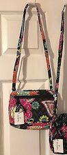 Vera Bradley Petite Crossbody bag in the  Ziggy Zinnia Pattern NWT
