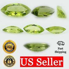 Loose Marquise Cut Genuine Natural Peridot Stone Single Green Birthstone Shape