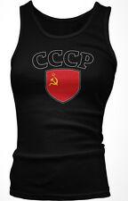 CCCP USSR Flag Crest Soviet Union National Soccer Pride Boy Beater Tank Top