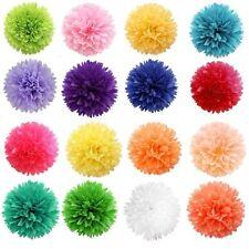 5Pcs Colorful Tissue Paper Pom-Pom Flower Party Home Hanging Venue Decorations