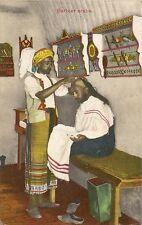 CARTE POSTALE AFRIQUE MOYEN ORIENT BARBIER ARABE