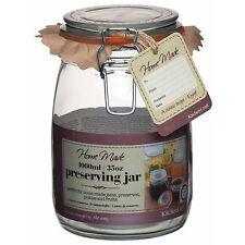 Glass Preserving Jars- 500ml 750ml 1L 1.5L 2L 3L for Preserves/ Storage Jam