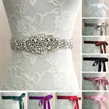 Crystal Rhinestone Wedding Bridal Dress Belt Cummerbunds Waistband Girdle Decor