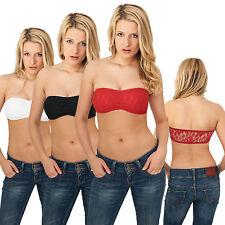 URBAN CLASSICS LADIES LACES BANDEAU Damen Bikini Top Shirt Tanktop Stretch XS-XL