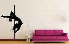 Vinyl Decal Wall Sticker Stripper Striptease Pole Dance Hot Decor (M644)